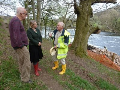 Green Party leader visits our hydro